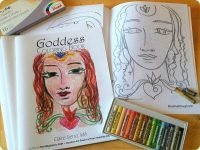 The Goddess Coloring Book Kit