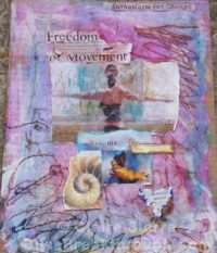 """Freedom of Movement – mixed media on paper, 11""""x14"""" $125"""